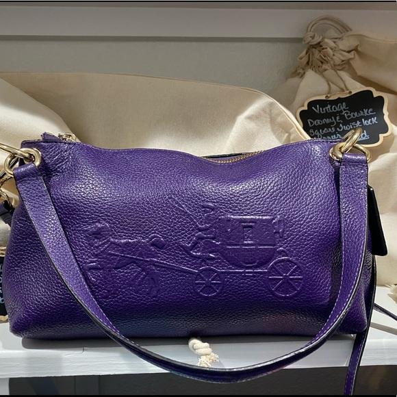 Purple Coach crossbody